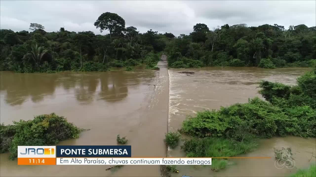 Ponte submersa em Alto Paraíso