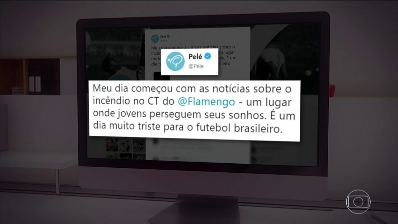 Pelé se solidariza com tragédia no CT do Flamengo