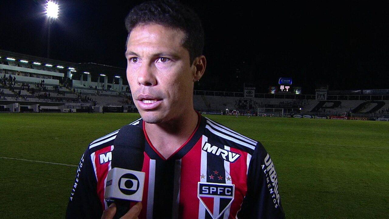 Hernanes diz que resultado ruim contra a Ponte não tira esperança na Libertadores: