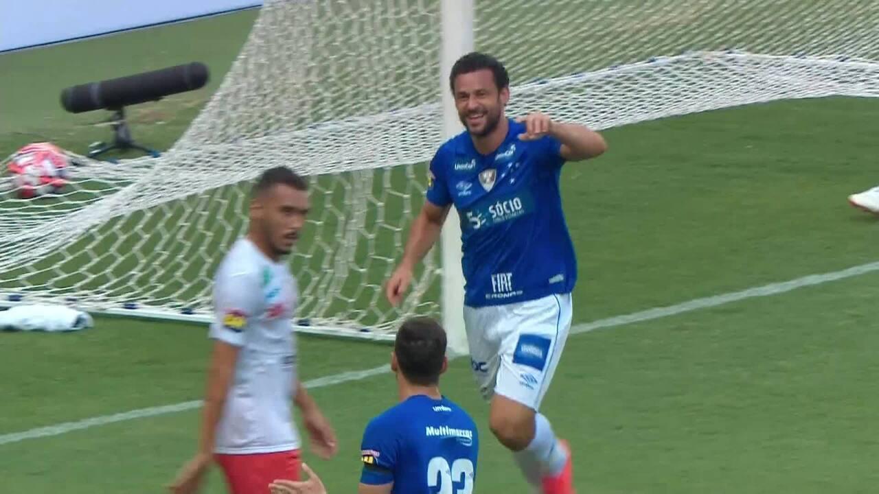 Marquinhos Gabriel cruzou para Fred marcar gol contra o Tupynambás