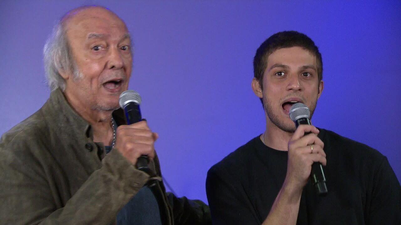 Erasmo Carlos e Chay Suede cantam 'Minha Fama de Mau'