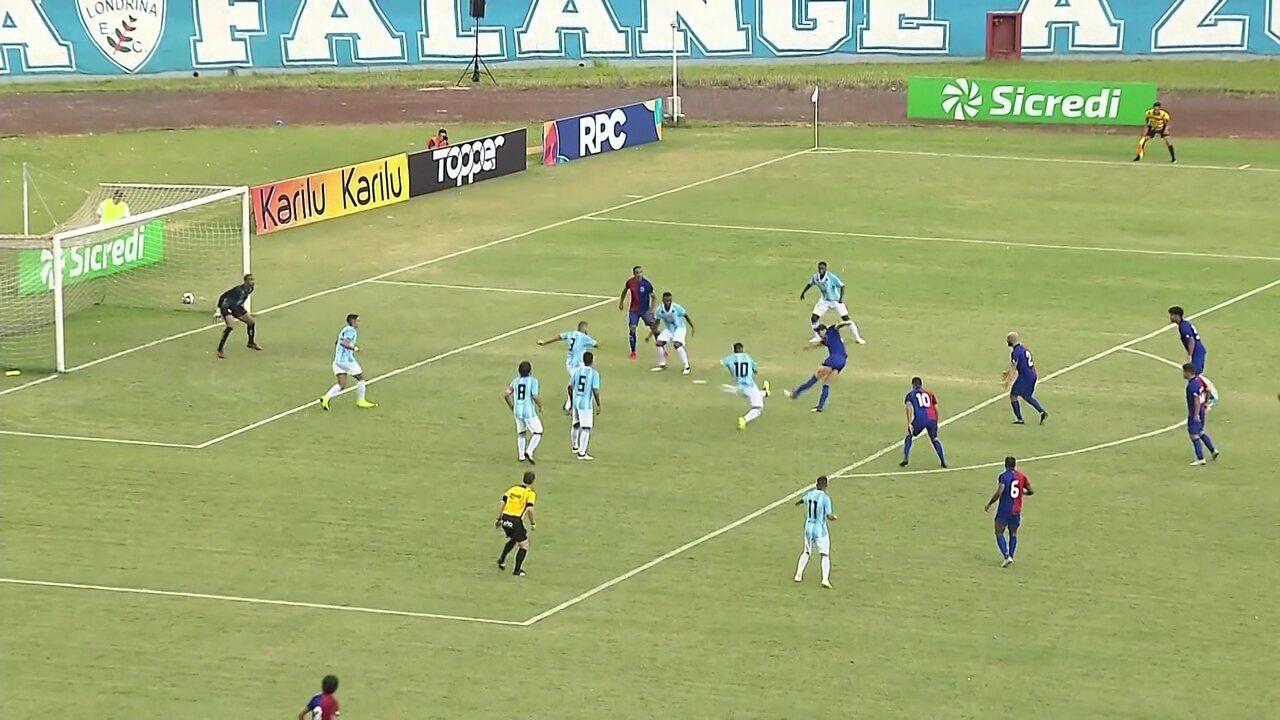 dc1e2bbd09 Veja os gols de Londrina 1 x 2 Paraná Clube pela sexta rodada do Paranaense