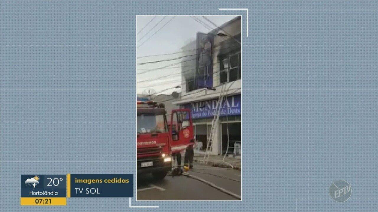 Igreja no Centro de Indaiatuba é atingida por incêndio