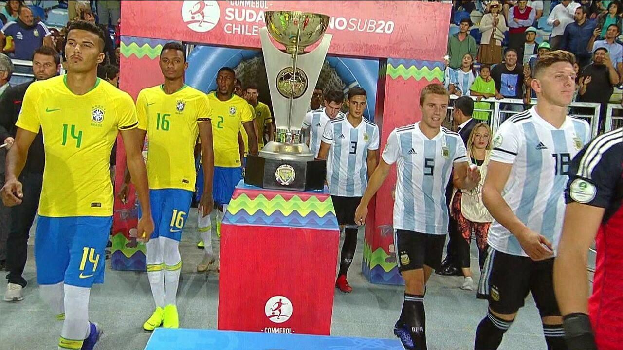 Brasil vence a Argentina pelo Sul-Americano sub-20, mas fica apenas em quinto e não se classifica para Mundial