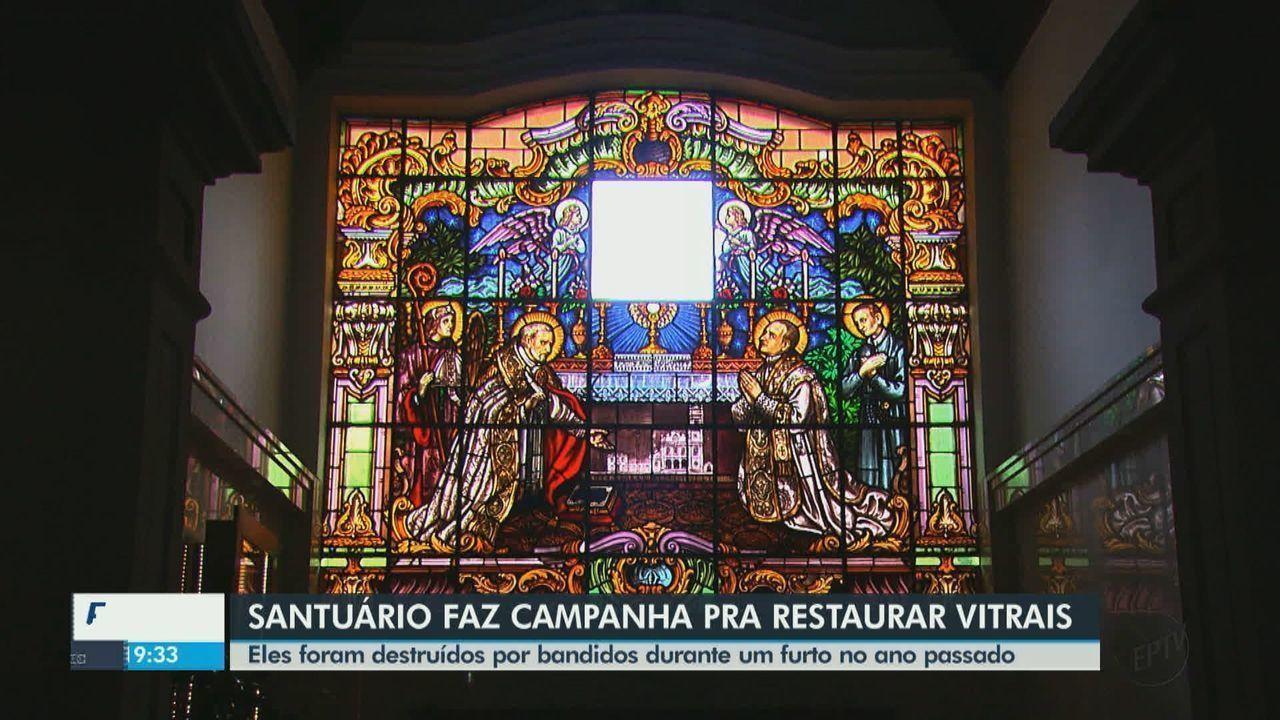 Santuário de São João da Boa Vista faz campanha para restaurar vitrais
