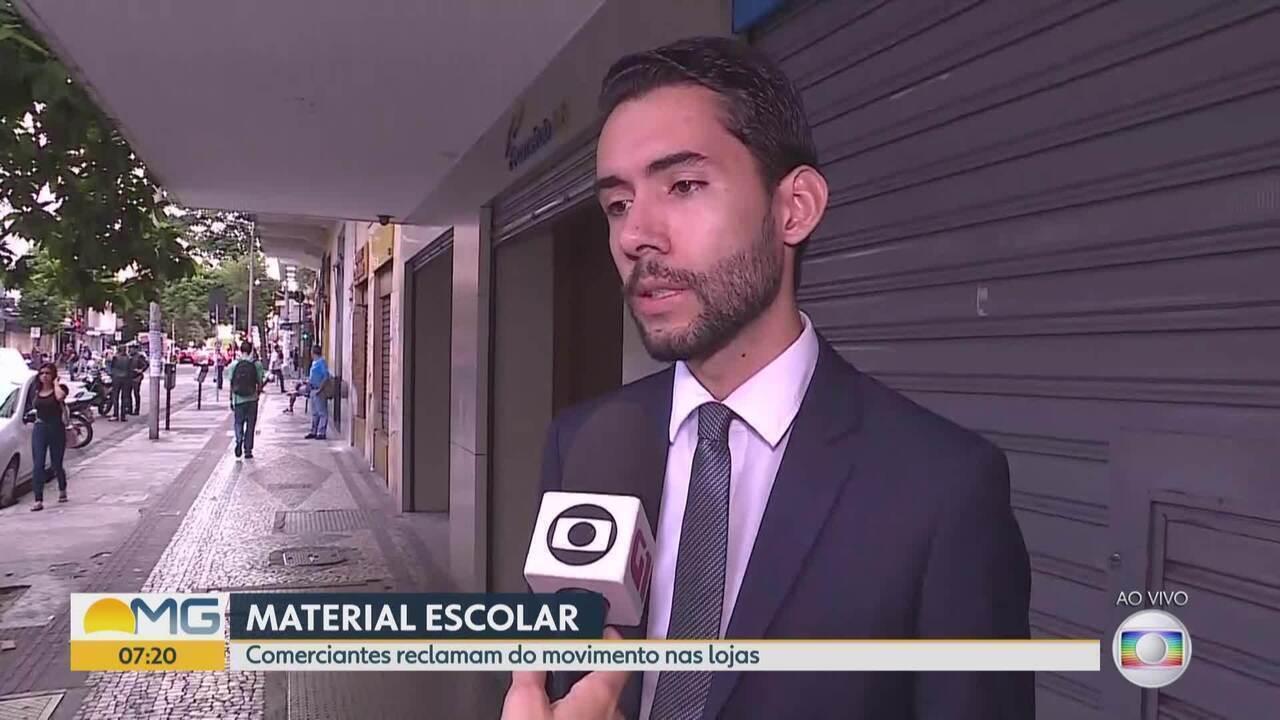Pesquisa mostra queda na venda de material escolar em Minas
