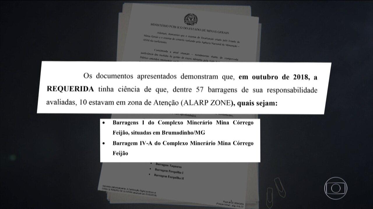 Documentos indicam que Vale sabia do risco de rompimento da barragem em Brumadinho