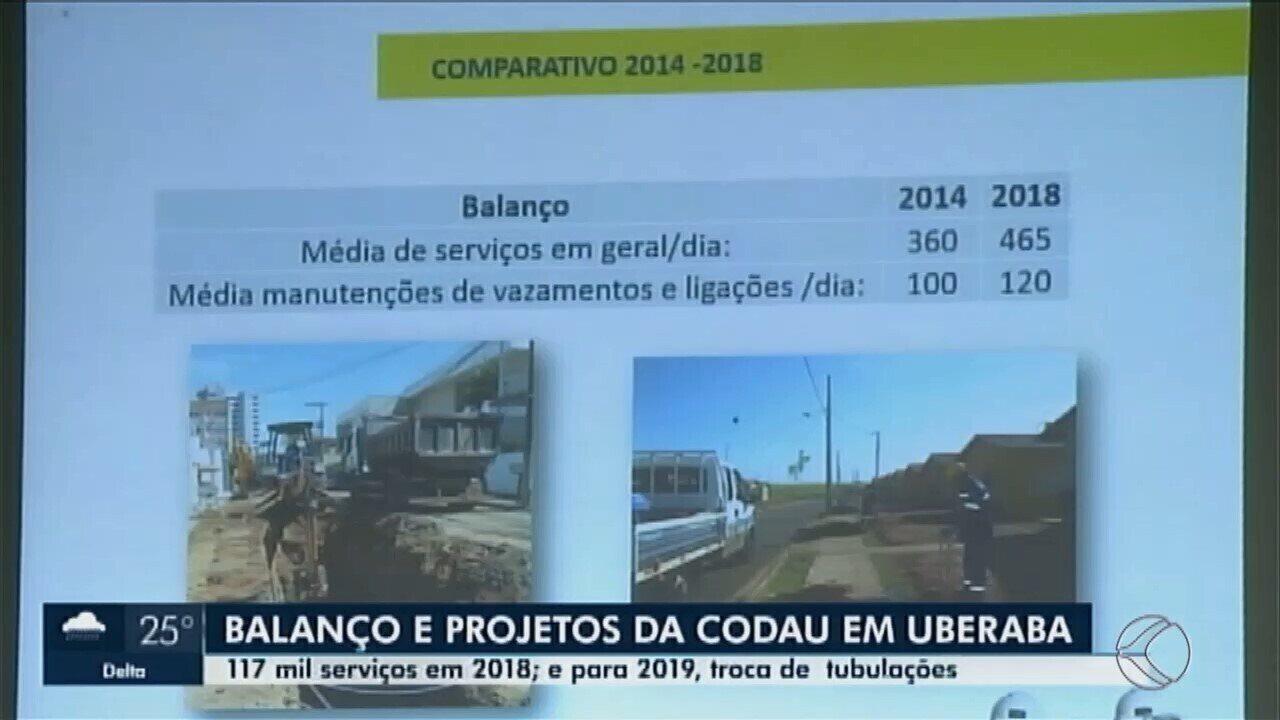 Em Uberaba, direção da Codau apresenta balanço dos serviços realizados em 2018