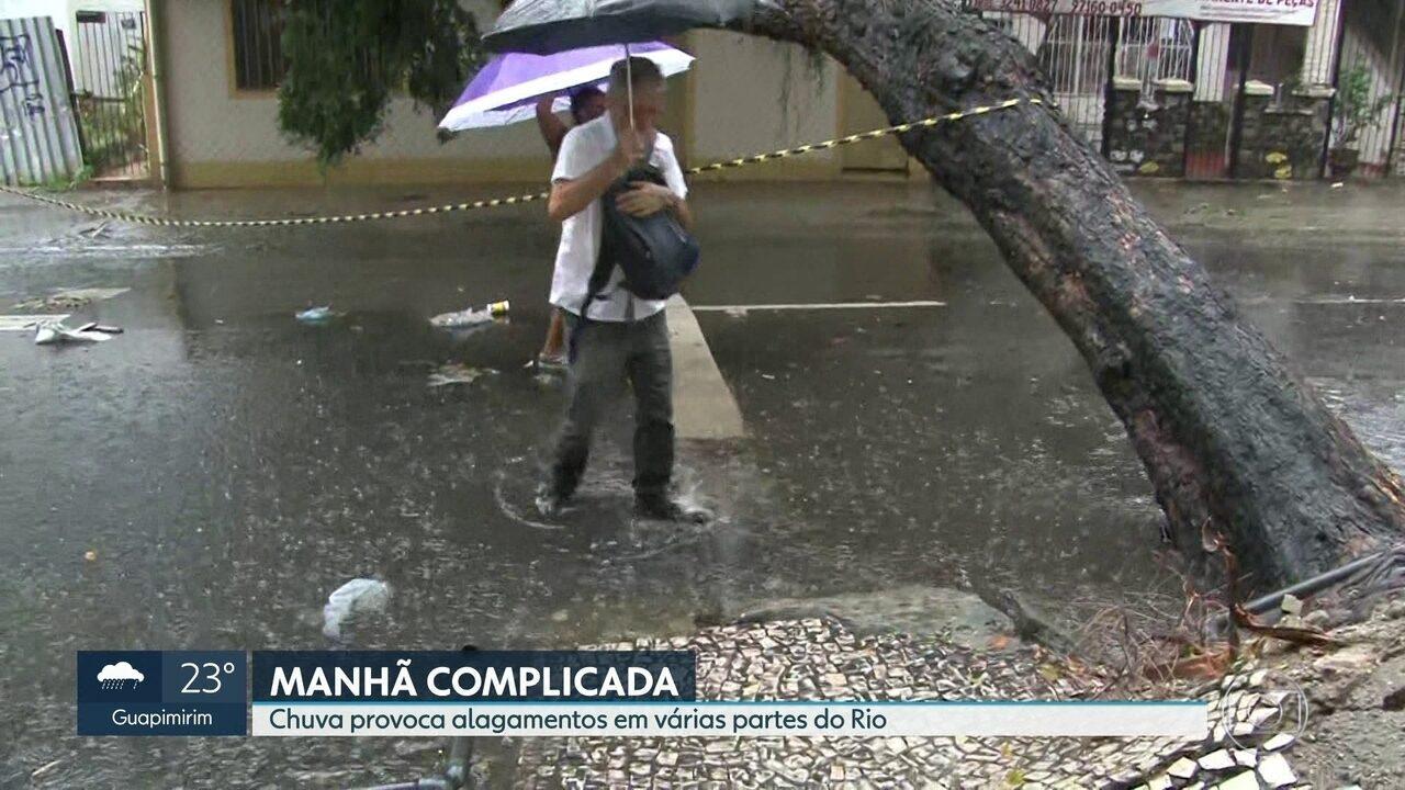 798b58fb5 Rio tem chuva fraca à tarde, após temporal que alagou ruas pela ...