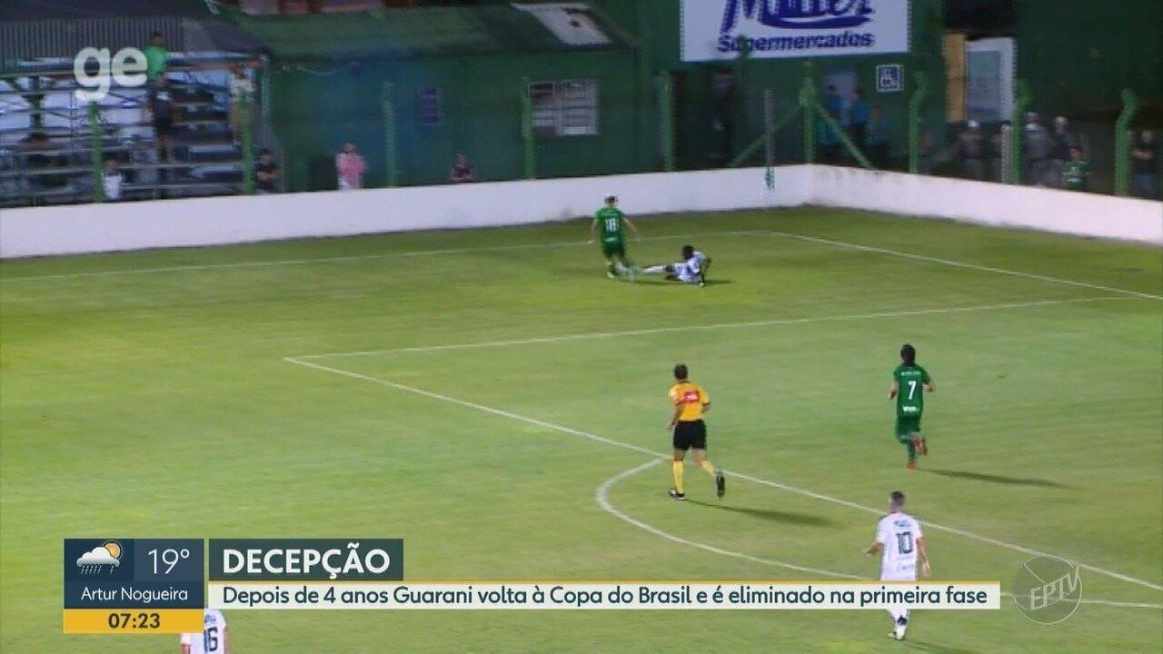 Guarani perde do Avenida e é eliminado na Copa do Brasil