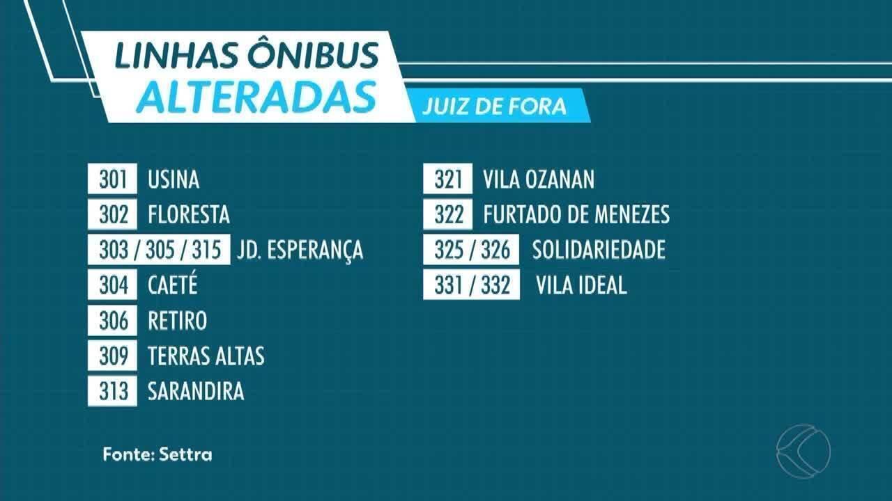 Obras em viaduto alteram ponto de 18 linhas de ônibus em Juiz de Fora