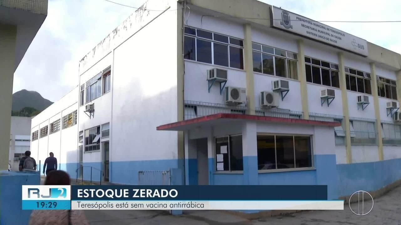 Estoque de vacina antirrábica está zerado em Teresópolis, no RJ