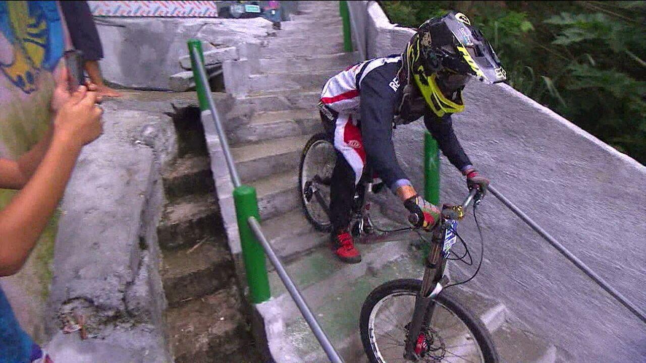 Aventura e adrenalina na Descida das Escados de Santos será atração no Esporte Espetacular