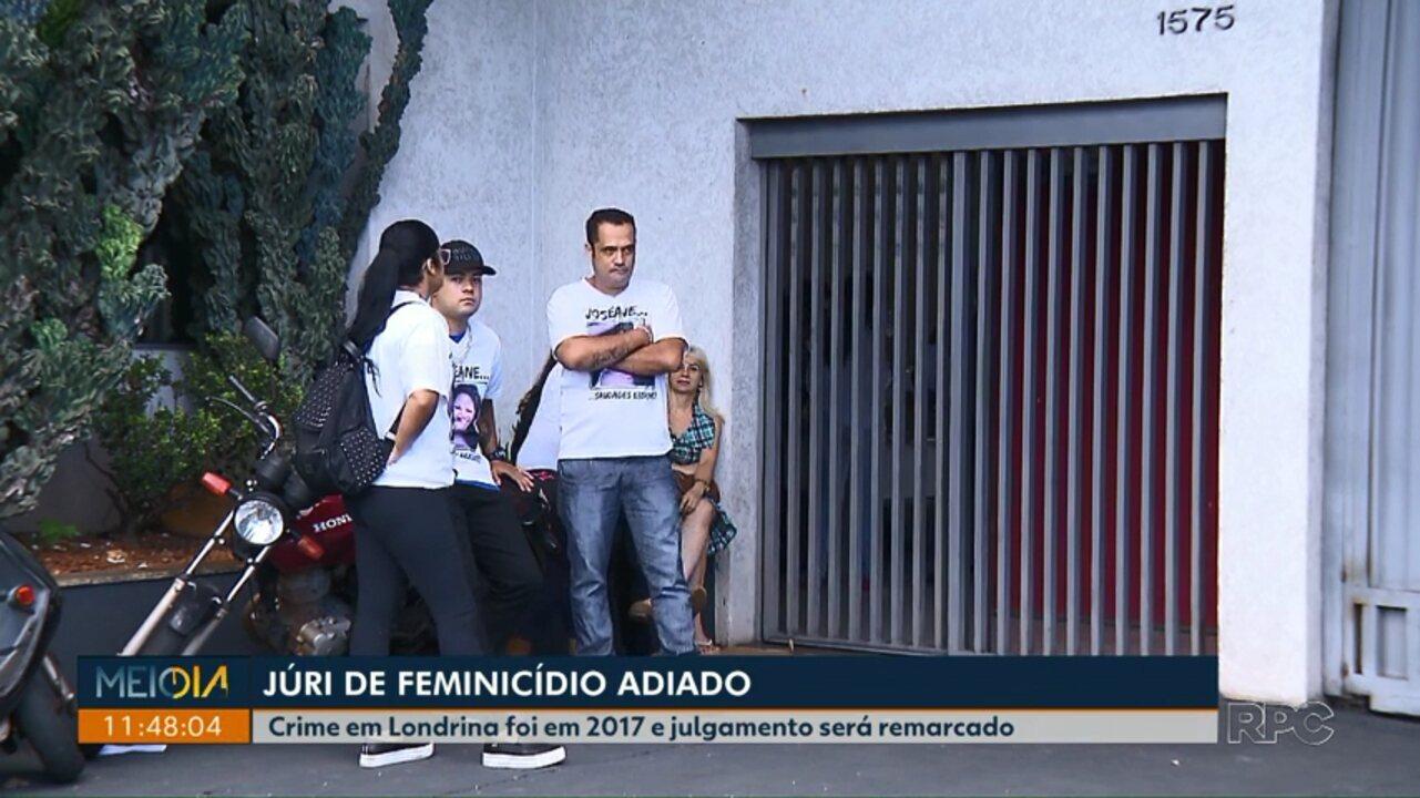 Justiça adia júri de acusado de feminicídio em Londrina