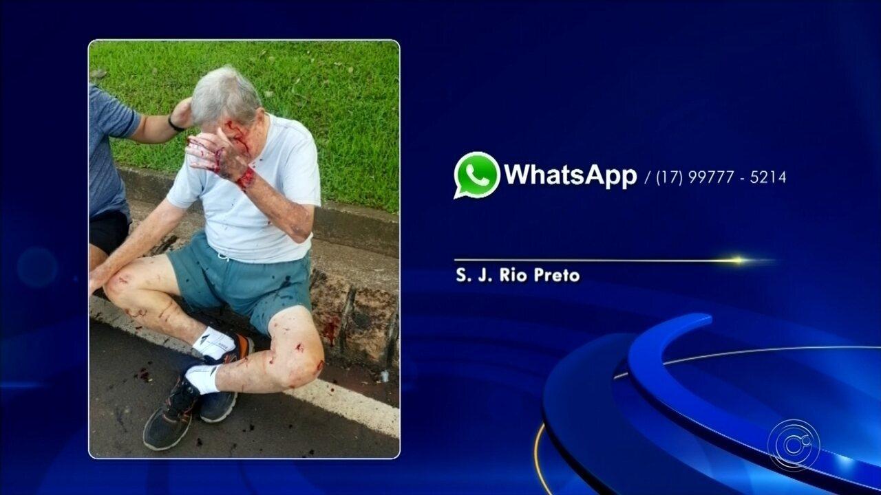 Idoso é atropelado por bicicleta em pista de caminhada em Rio Preto