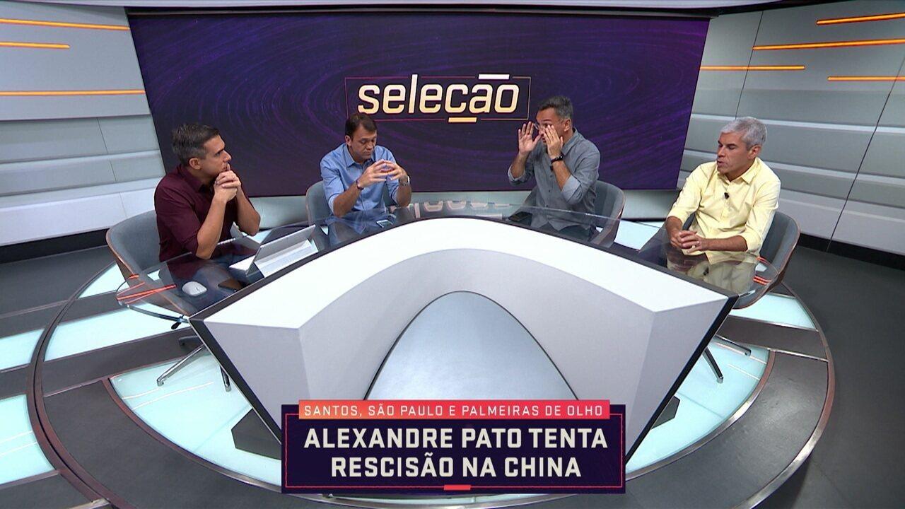 Alexandre Pato tenta rescisão na China e comentaristas dizem que Santos e São Paulo são bons caminhos
