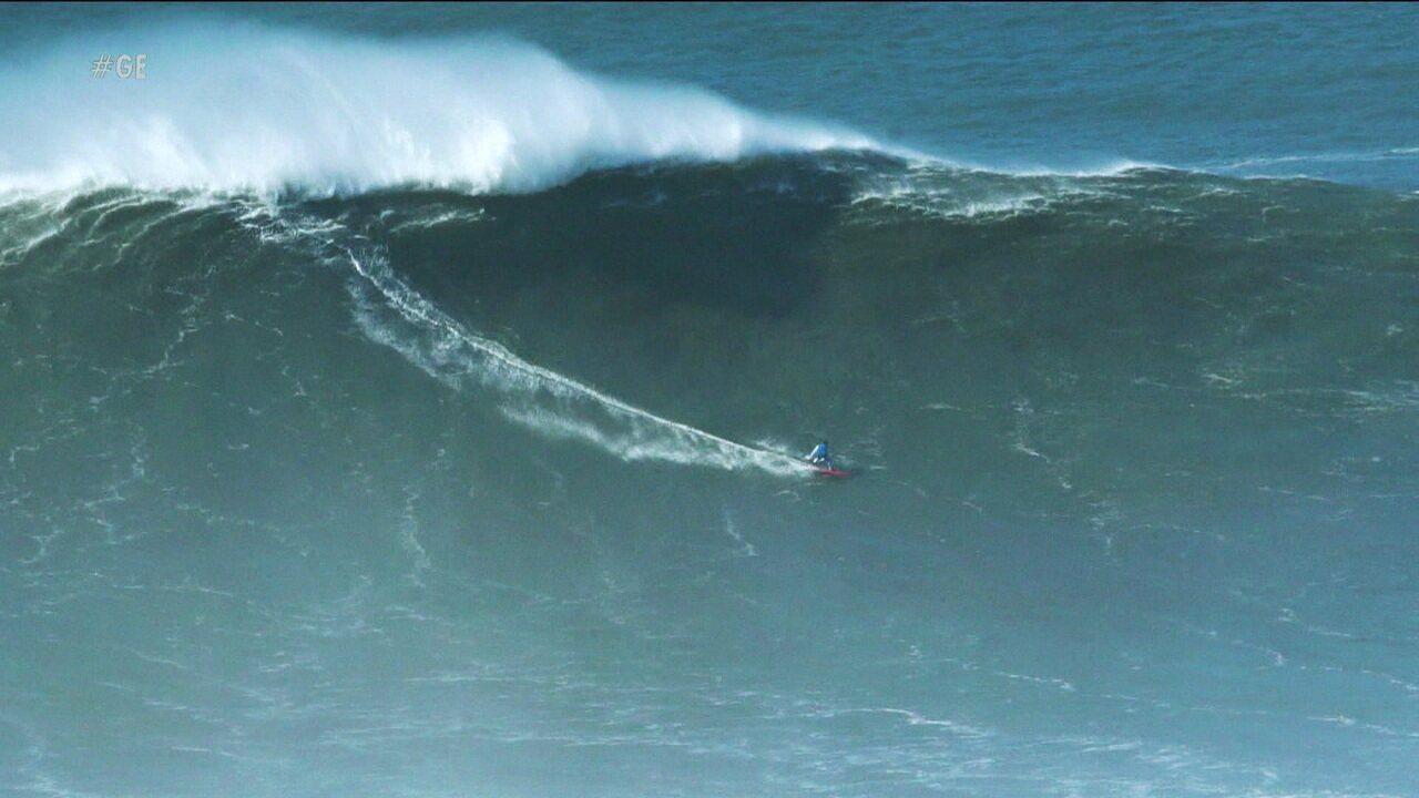 """Surfistas vão encarar ondas de mais de dez metros no """"Gigantes de Nazaré"""""""