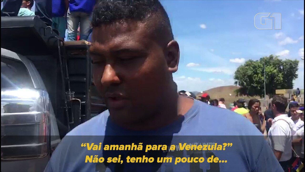 O motorista Victor Curvelo não sabe se seguirá viagem com mantimentos para a Venezuela