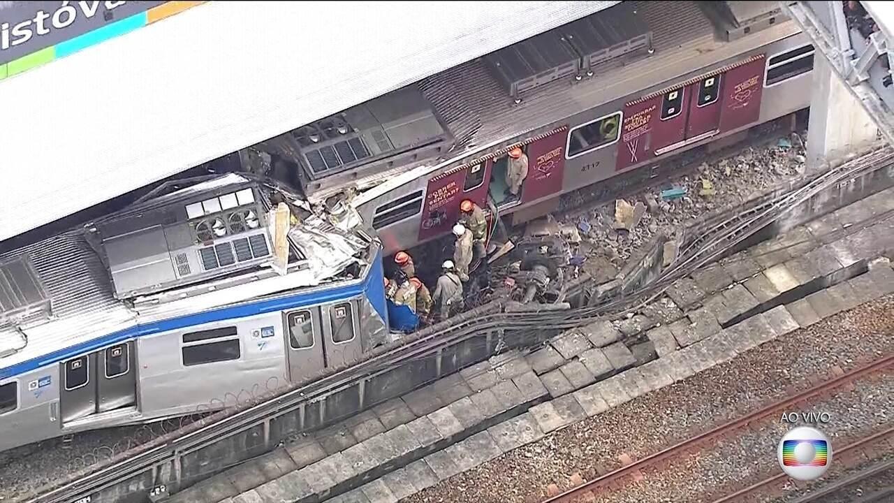 Colisão entre trens deixa feridos na Zona Norte do Rio