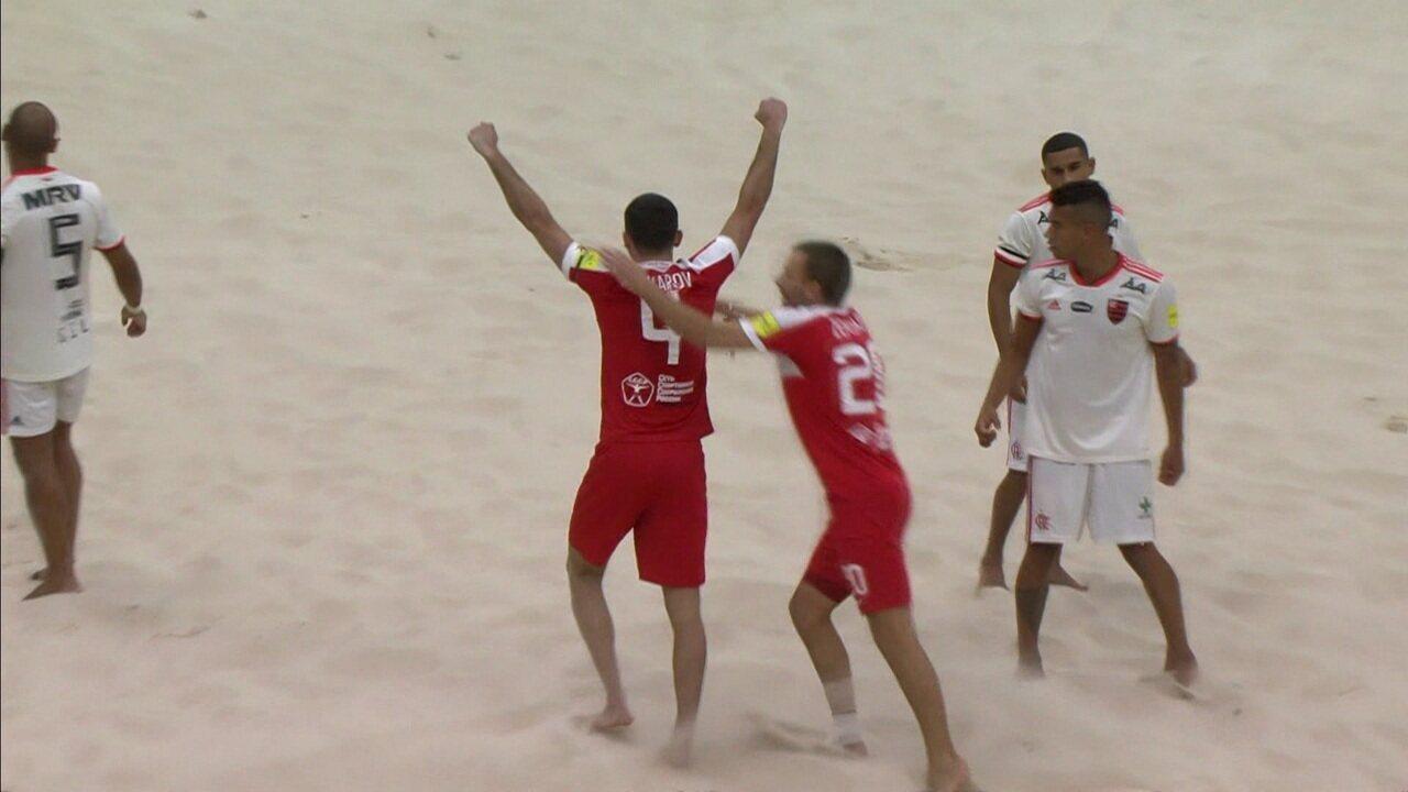 Os gols de Spartak 2 x 1 Flamengo pelo Mundialito de Clubes de Futebol de Areia