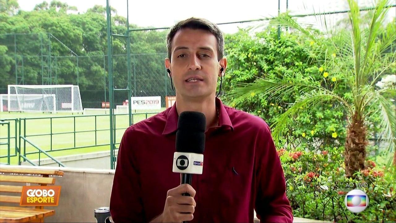 São Paulo ao vivo: recuperados fisicamente, Hernanes e outros treinam na sexta-feira