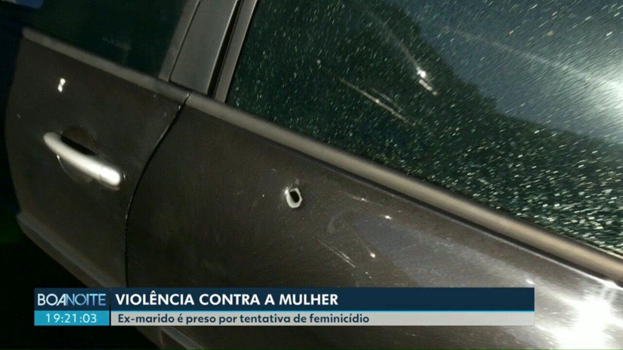 Ex-marido atira contra ex-mulher e é preso por tentativa de feminicídio