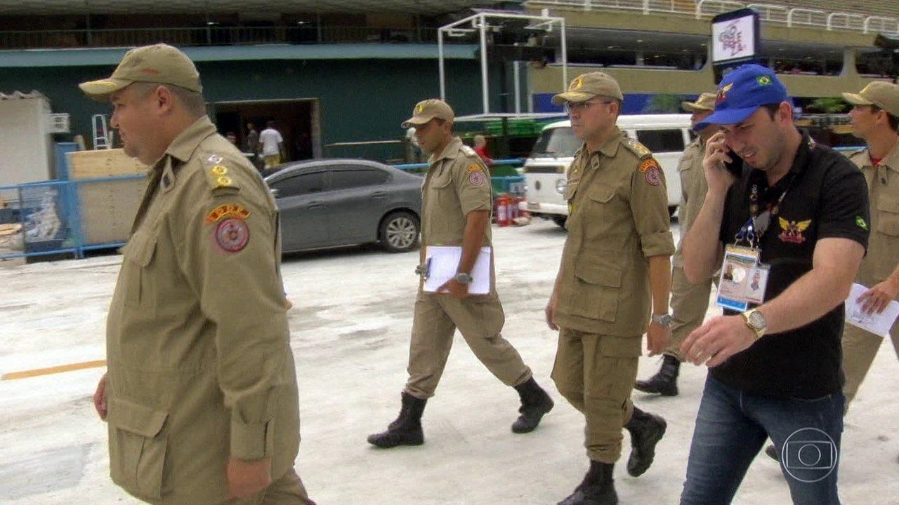 Sambódromo do Rio passou por vistoria de emergência horas antes do início dos desfiles