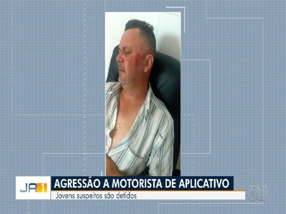 Jovens são presos suspeitos de agredir motorista de aplicativo, em Goiânia