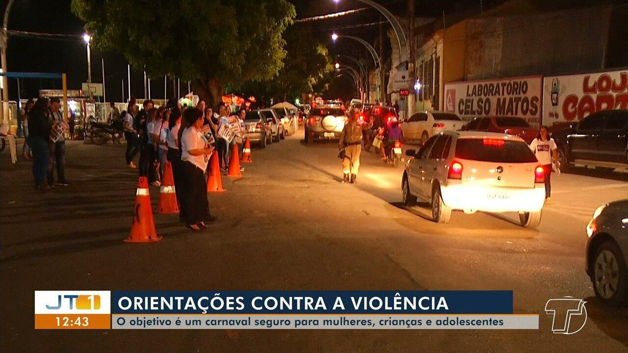 Blitz na Orla orienta pessoas para garantir Carnaval seguro para crianças e mulheres