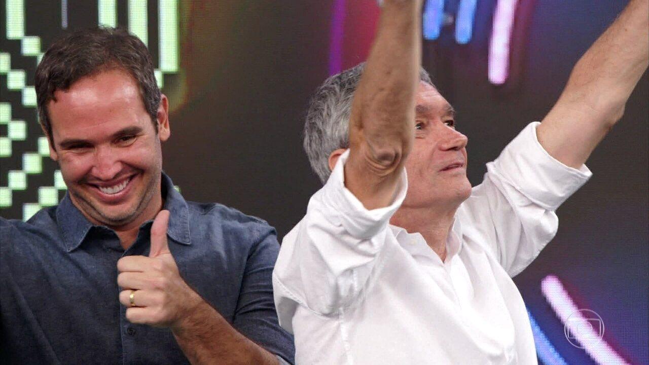 Serginho Groisman e Caio Ribeiro vencem disputa no 'Ding 'Dong'