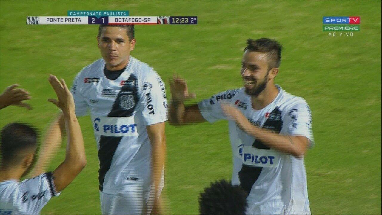 Os melhores momentos de Ponte Preta 2x1 Botafogo-SP, pela nona rodada do Paulistão