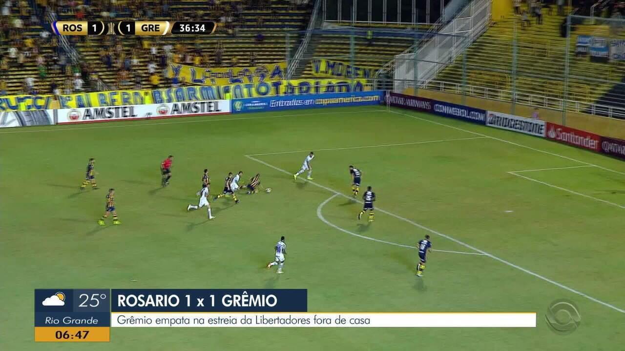 Confira os melhores momentos da partida entre o Rosario Central e Grêmio