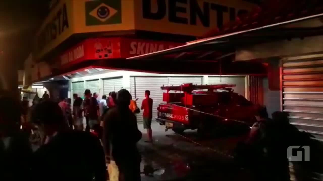 Imagens mostram movimentação no Centro de Rio Branco após incêndio