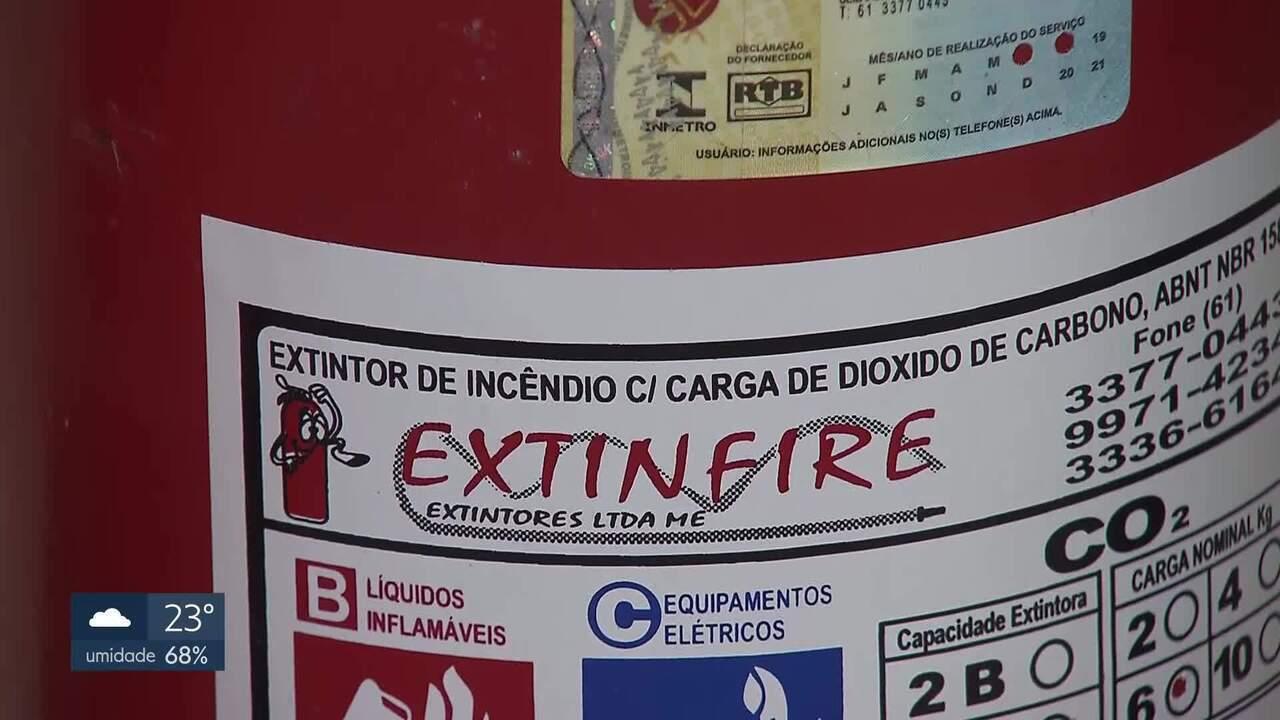 Extintores estão vencidos em várias unidades de saúde do DF