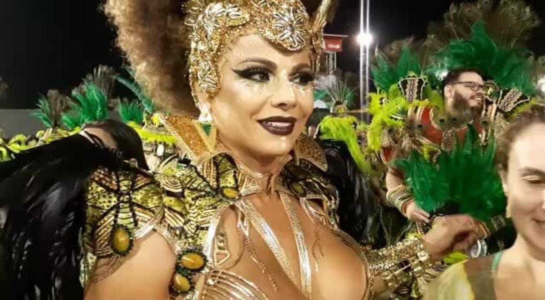 Viviane Araújo diz que Mancha Verde mereceu o título do carnaval de SP