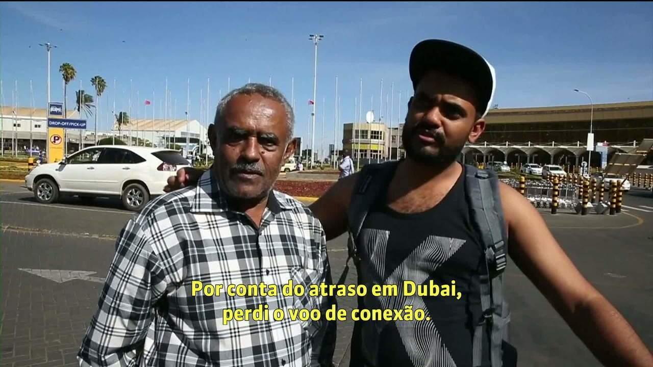 Após perder voo que caiu, filho se reencontra com o pai