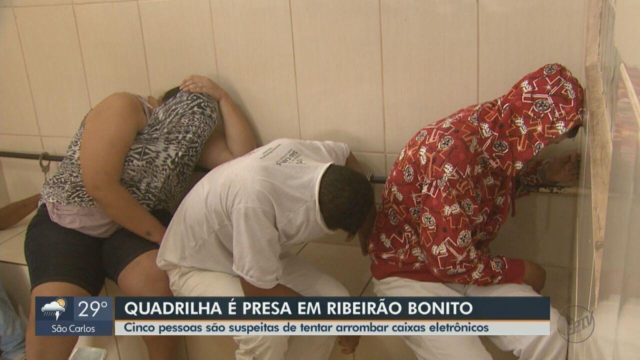 Quadrilha é presa em Ribeirão Bonito após tentar arrombar caixas eletrônicos