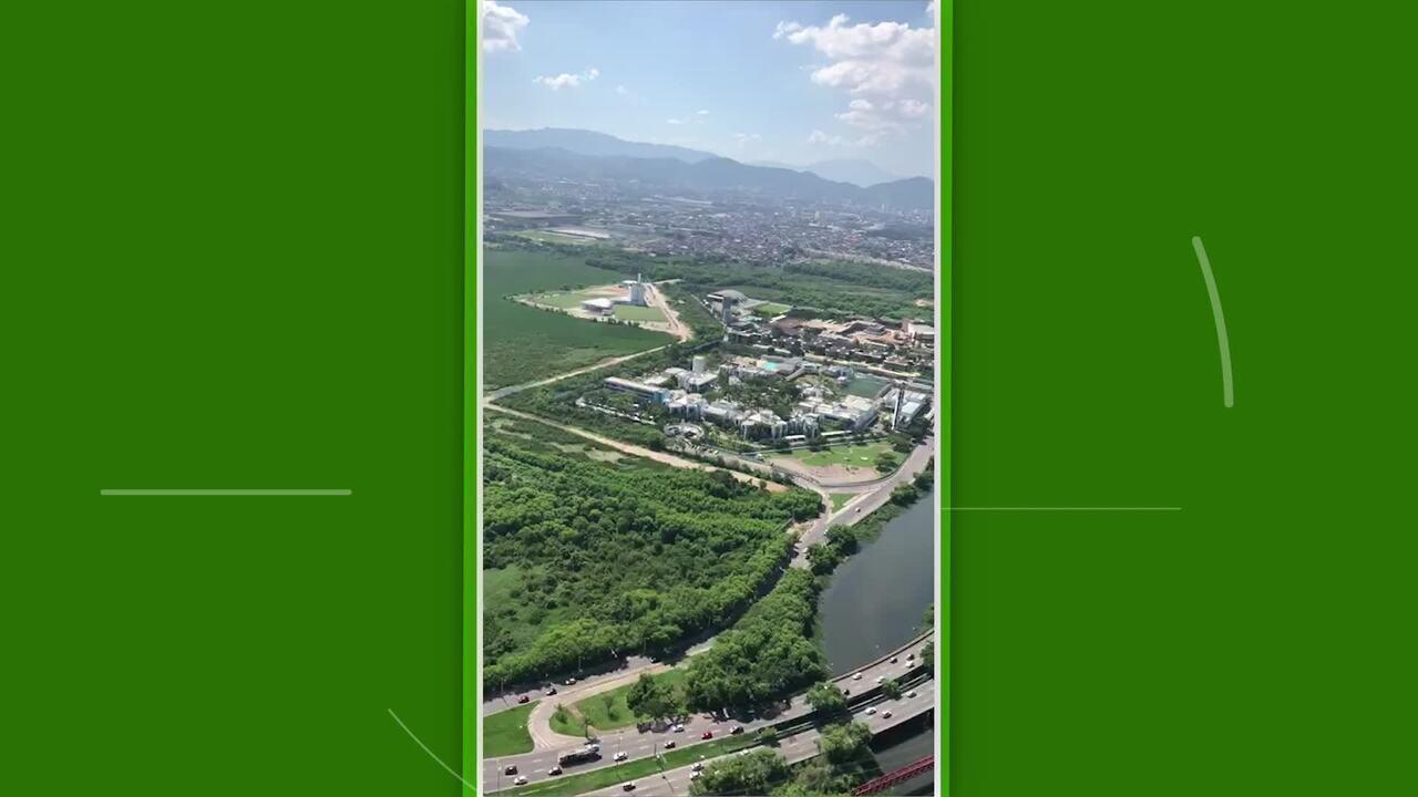 Vídeo mostra construção da rua de acesso do CT do Fluminense