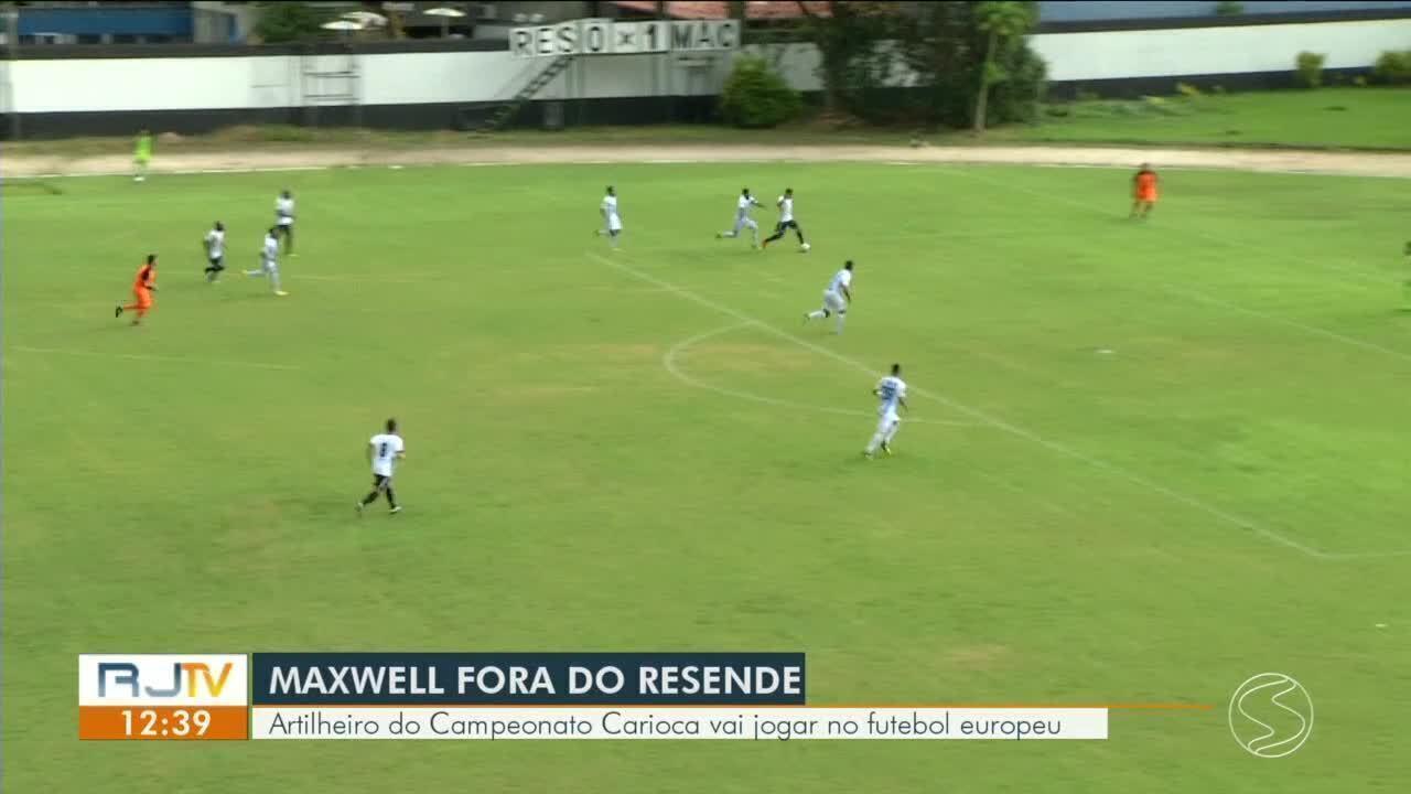 Artilheiro do Carioca e alvo do Botafogo, Maxwell deixa o Resende para jogar na Suécia