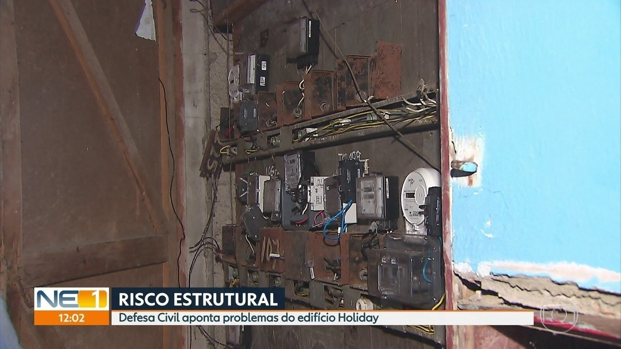 Defesa Civil aponta problemas no Edifício Holiday