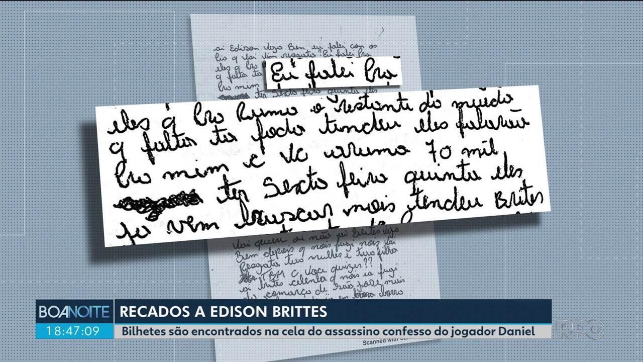 Bilhetes são encontrados em cela de Edison Brittes