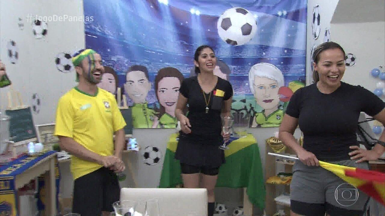Claudinei recebe os convidados no 'Jogo de Panelas Cuiabá'