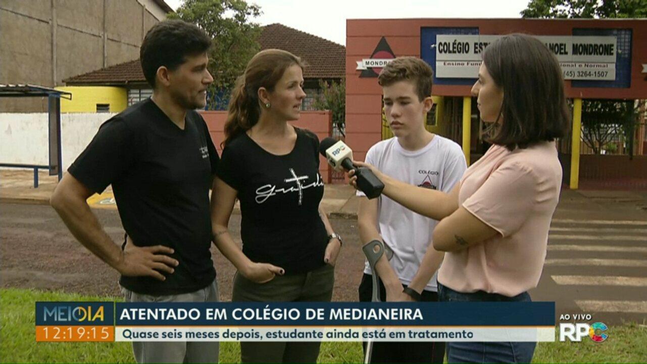 Família de aluno baleado dentro do Colégio de Medianeira fala sobre massacre em SP