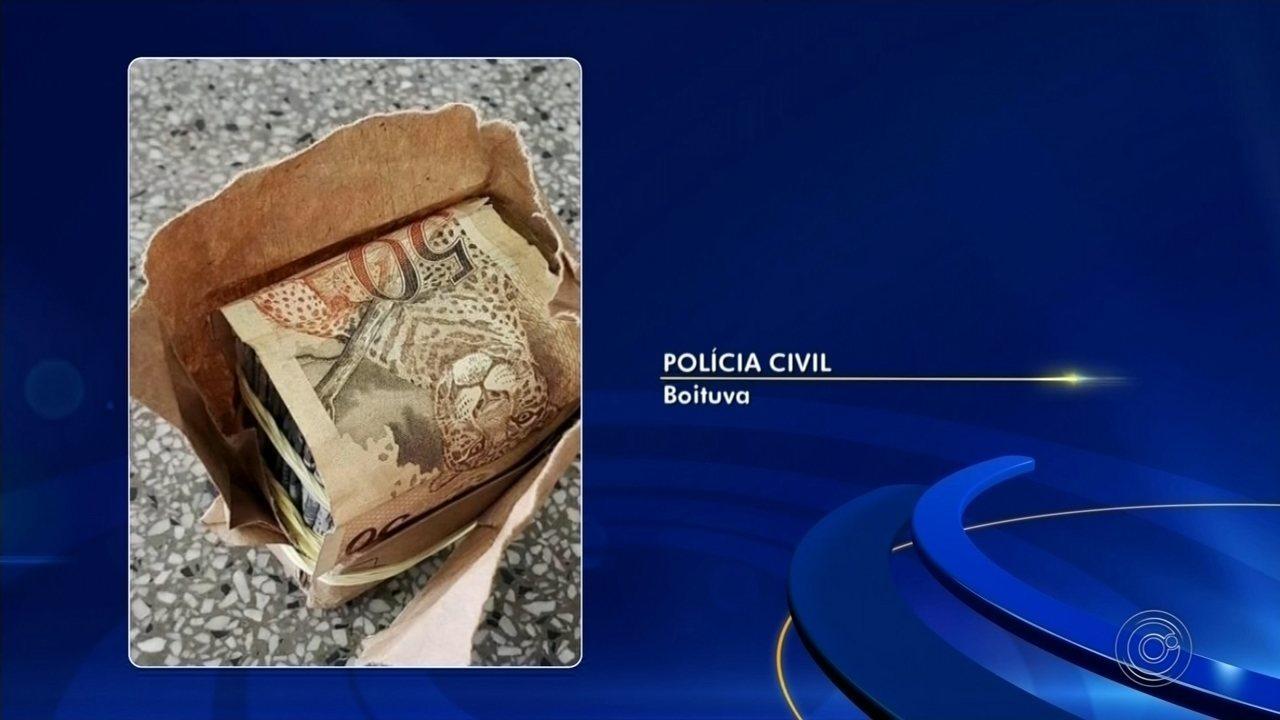 Jovem perde R$ 900 após cair no golpe do pacote de dinheiro em Boituva