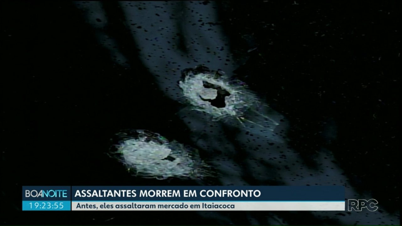 Dois assaltantes são mortos em confronto com a Polícia em Ponta Grossa