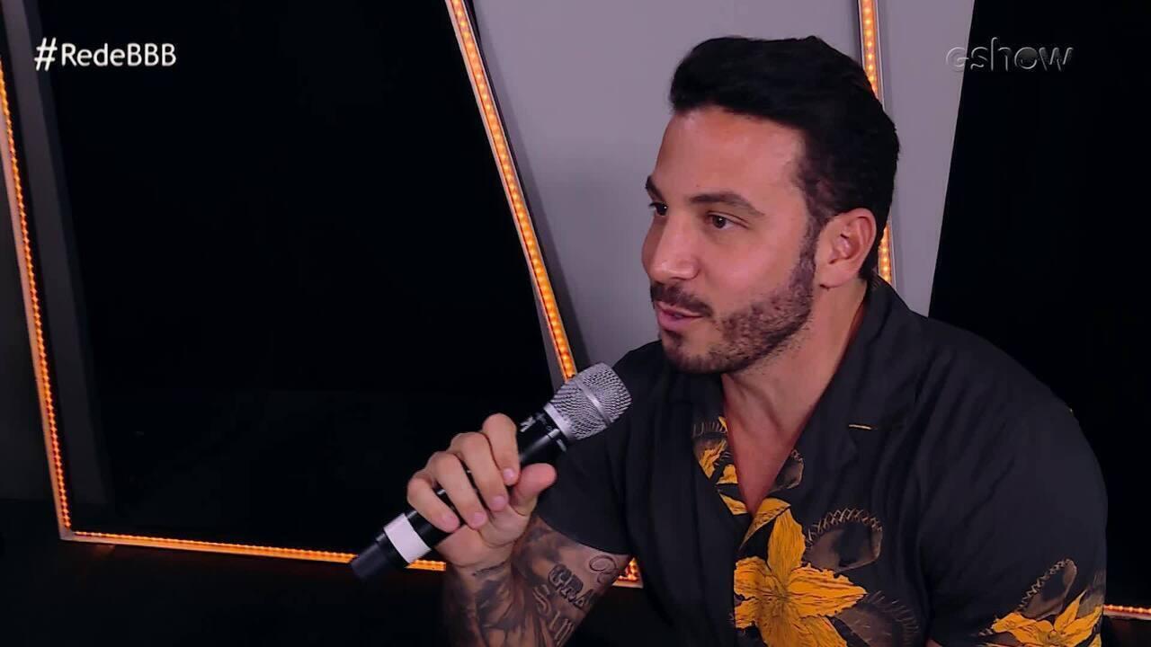 Gustavo acredita que Gabriela indicará Elana ao Paredão