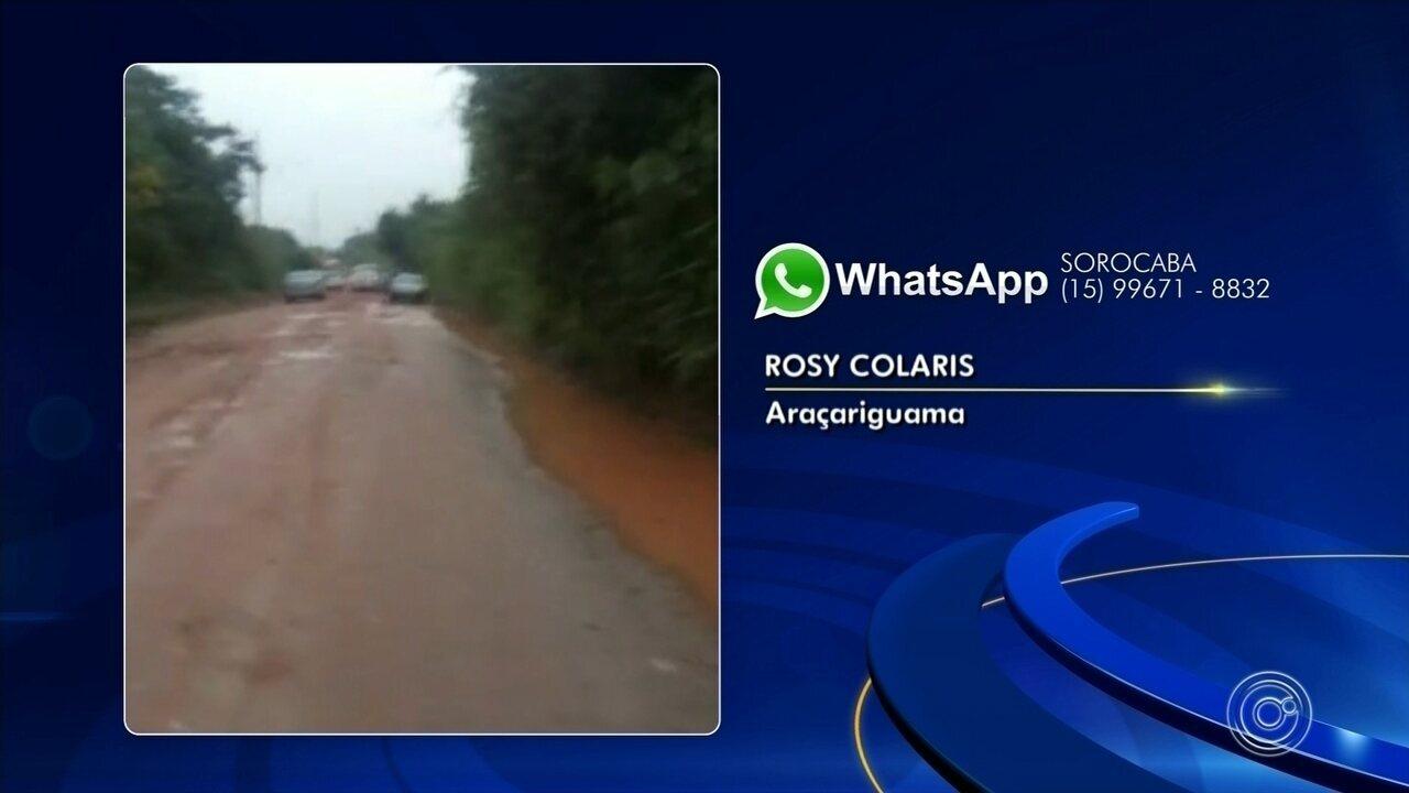 Moradores de bairro de Araçariguama ficam 'ilhados' após chuva forte
