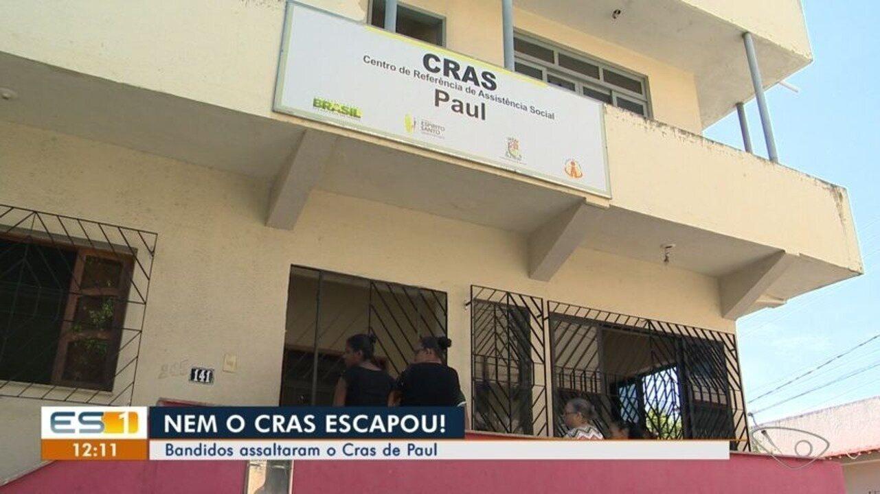 Criminosos furtam Centro de Referência de Assistência Social de Paul, em Vila Velha