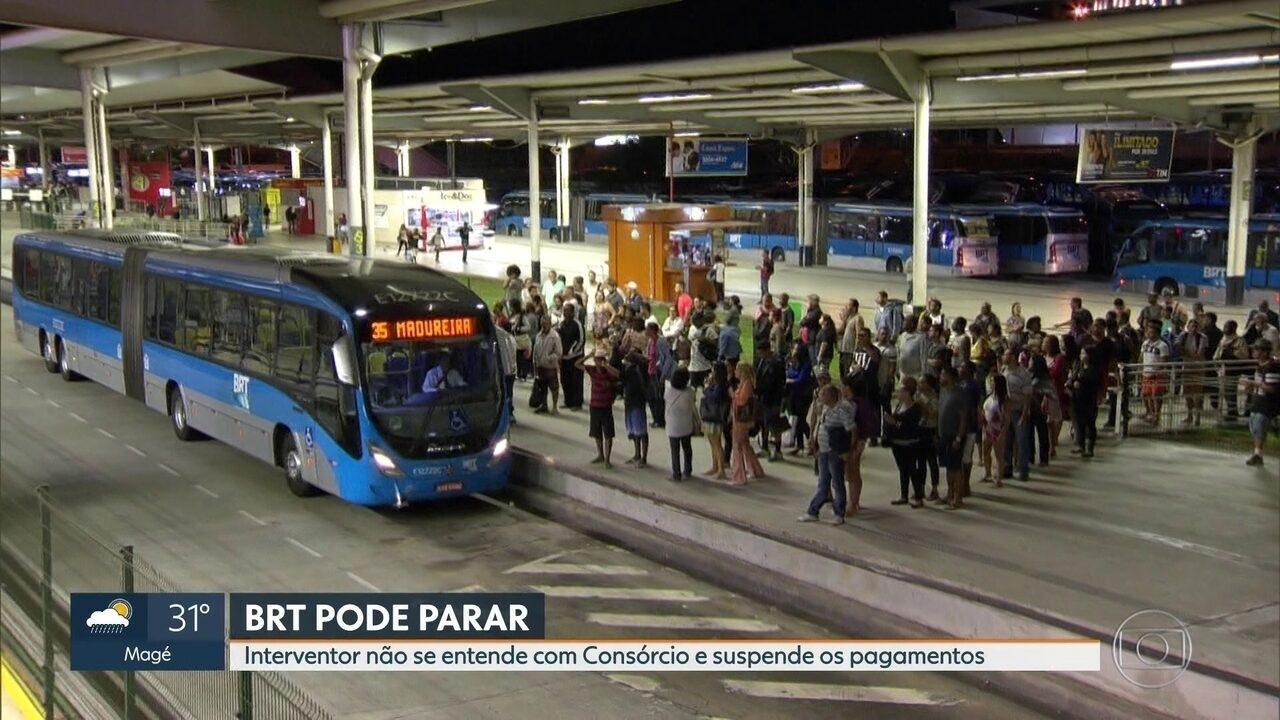 Interventor suspende repasses para o BRT