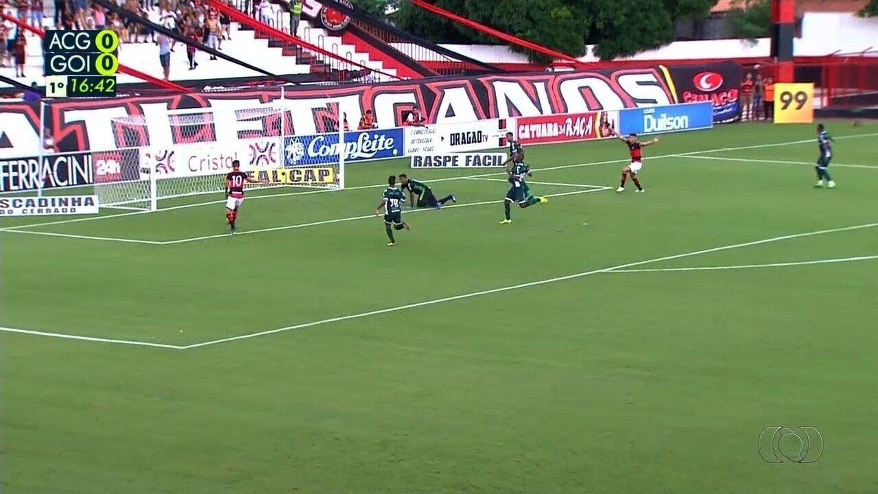 Veja os gols da partida entre Atlético-GO e Goiás